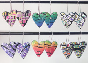 Patterned Heart Earrings