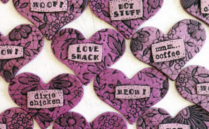 Hearts with Words Magnets