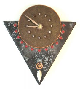 Black Artifact Clock - Triangle