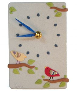 Birds on Blue Clock