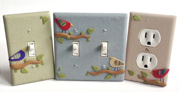 Birds on Branches Light Switch Plates