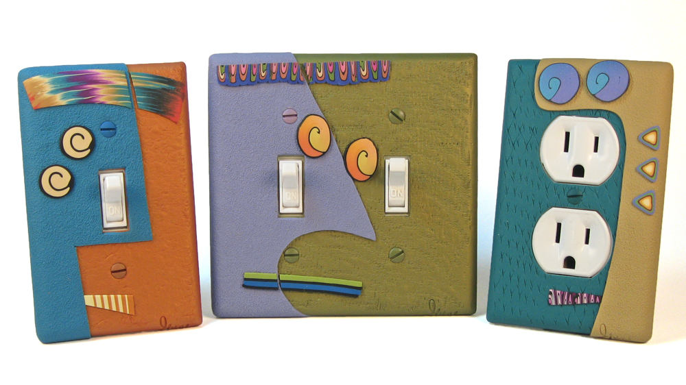 Abstract Face Switch Plates